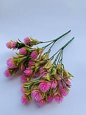 Искусственный,декоративный куст- репей розовый., фото 2