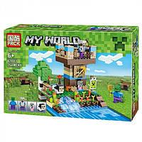 "Конструктор Lele 63013 (Аналог Lego Minecraft) ""Башня Стива"" 264 детали, фото 1"