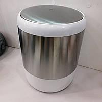Ведро для мусора 6 л Primanova белое, фото 1