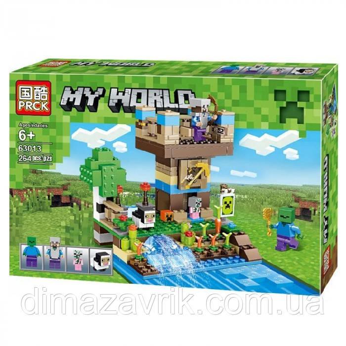 """Конструктор Lele 63013 (Аналог Lego Minecraft) """"Башня Стива"""" 264 детали"""