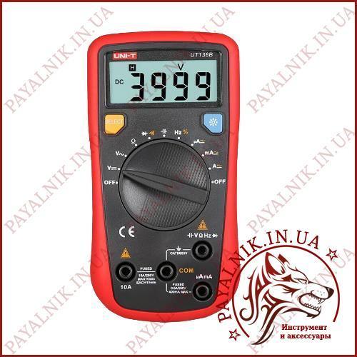 Автоматический мультиметр цифровой UNI-T UT-136B, вольтметр, амперметр, измеритель екмкости