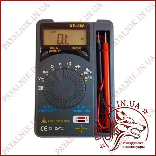 Мультиметр автомат Digital XB-868, цифровий тестер, вольтметр, продзвонювання