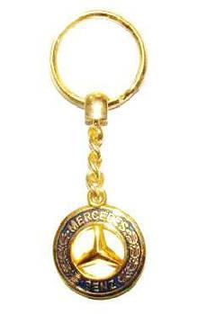 Брелок для ключів Mercedes/MB (металевий/золотистий) AUTOTECHTEILE