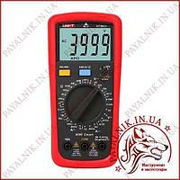 Мультиметр цифровой с термопарой UNI-T UT-39C+, тестер юнит, вольтметр, амерметр, измеритель емкости