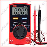 Цифровой мультиметр карманный UNI-T UT-120C, тестер автомат, звуковая прозвонка, вольтметр