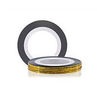 Лента для дизайна ногтей - Золото голографическое, фото 1