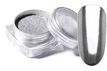 Втирка дзеркальна Срібна для нігтів в баночці 5гр