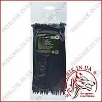Стяжка кабельная черная 4*200 (3,6*200мм) (100шт)