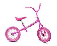 """Беговел детский M 3255-1 розовый, колеса 12"""""""