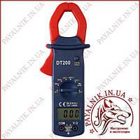 Токоизмерительные токовые клещи Digital DT-200, токовые клещи с мультиметром, фото 1