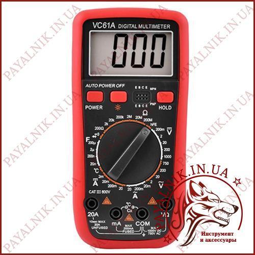 Мультиметр цифровой Digital VC-61A, термопара, измеритель емкости, вольтметр, амперметр