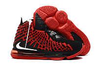 Баскетбольные кроссовки Nike Lebron 17 Red/Black Реплика, фото 1