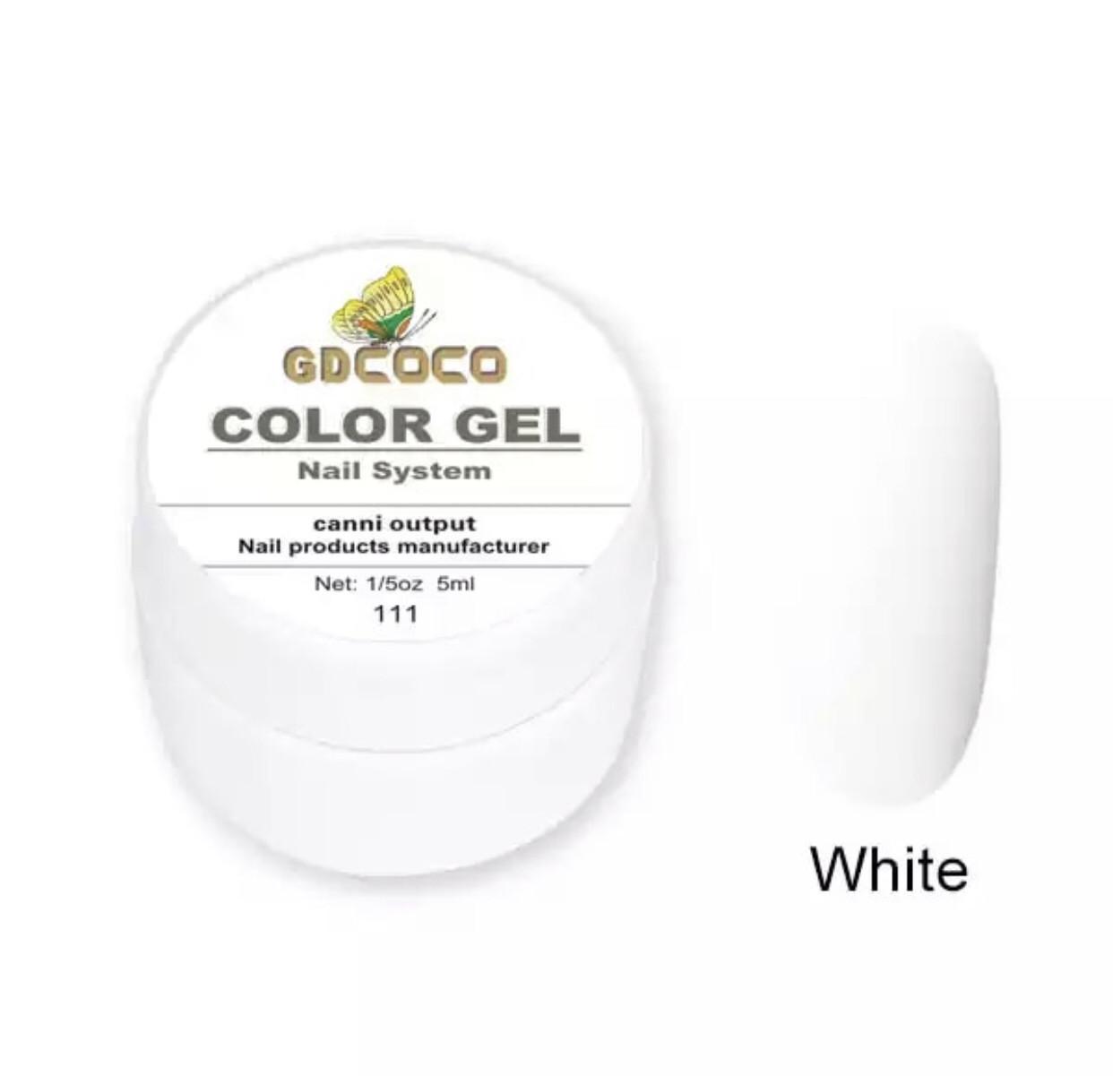 Гель фарба для малювання Біла, 5гр