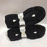 36,38 Кросівки жіночі чорні з білим на товстій підошві, фото 7