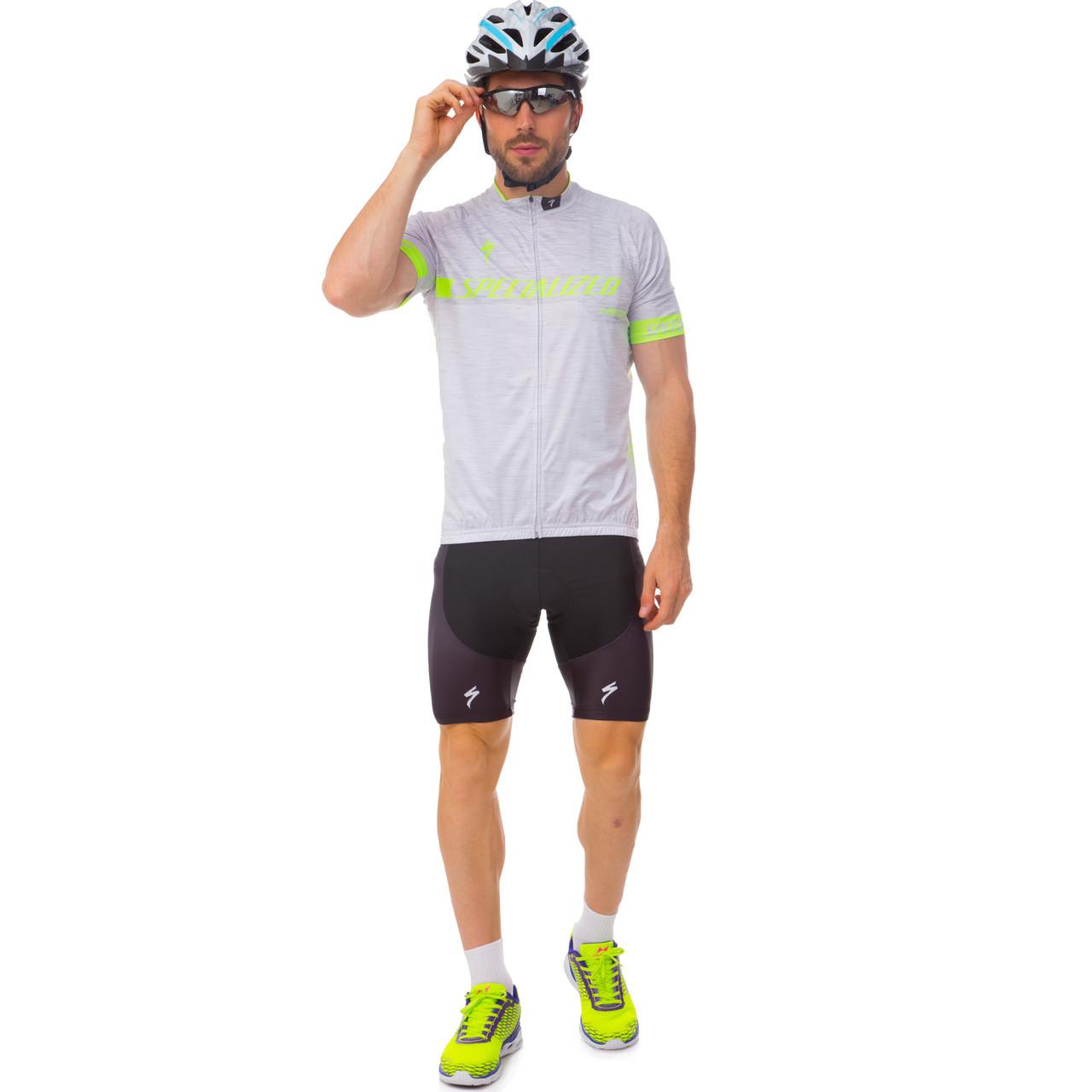 Велоформа короткий рукав с лямками SPECIALIZED (M-3XL-55-90кг-168-192см, серый-черный) M-55-65кг-168-175см PZ-Y-128_1