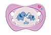 Пустышка Nip Моя семья Ночные, 0-6 мес., силикон, для девочки, 2 шт., фото 5