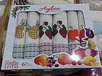"""Набор кухонных полотенец """"Овощи/Фрукты"""" 45х70 см 6 шт"""