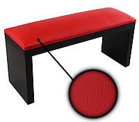 Подставка для маникюра, подлокотник на деревянных ножках красный