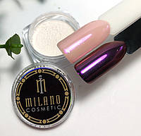 Втирка жемчужная для дизайна ногтей Розовая, в баночке