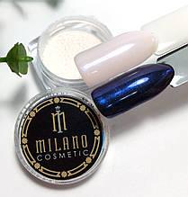 Втирка перлова для дизайну нігтів Синя в баночці