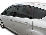 Дефлектори вікон вставні Ford C-Max 2010 - 2019 5D, 4шт, фото 3