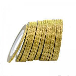 Сахарная лента для декора ногтей - Светлое золото 2 мм