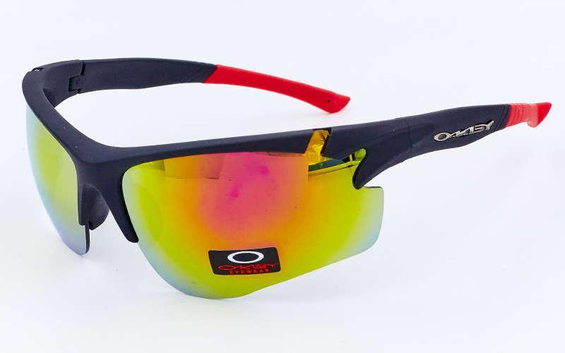 Очки спортивные солнцезащитные Oakley (пластик, акрил) Красный PZ-MS-8870_1