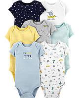 Комплект боди Carters  для мальчика с коротким рукавом на 12, 18 и 24  месяцев