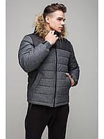 Мужская зимняя куртка Riccardo Short Premium Серый