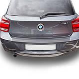 Пластиковая защитная накладка на задний бампер для BMW 1-series F20 2011-2015, фото 6