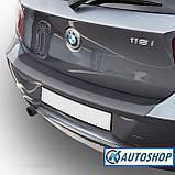 Пластиковая защитная накладка на задний бампер для BMW 1-series F20 2011-2015, фото 7