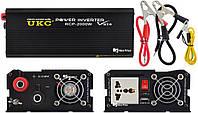 Профессиональный преобразователь инвертор Ukc 12V-220V RCP-2000W Usb Black (4146)