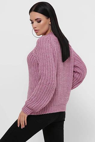 Бузковий жіночий светр великої в'язки 42-46рр., фото 2