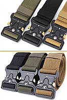 Ремень тактический Assault Belt с металлической пряжкой 125 см