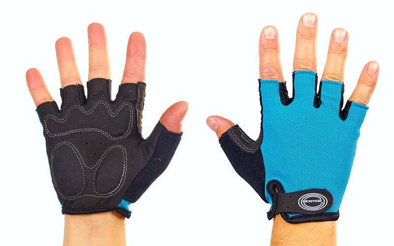 Велоперчатки с открытыми пальцами Scoyco ВG02 (размер S-XXL цвета в ассортимента) Голубой S PZ-BG02_1
