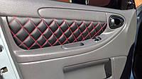 Обшивки вставок карт Ланос / Сенс Люкс Т150 (Красная строчка Стеганые), фото 1