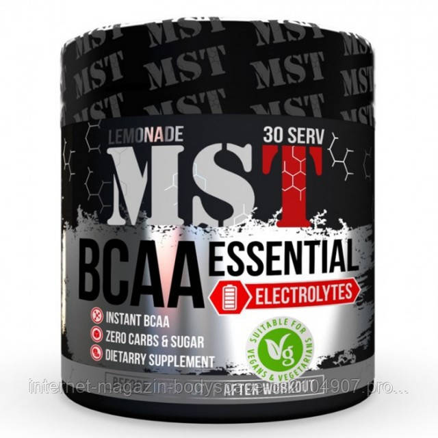MST Sport Nutrition, Бцаа BCAA Essential with Electrolytes, 240 грамм