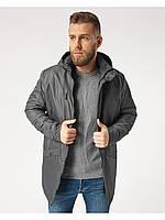 Мужская куртка ветровка Riccardo ПЛ Серый