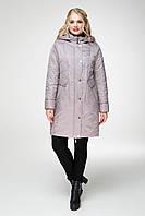 Демисезонная удлиненная  куртка классического стиля, свободного силуэта с вшитым капюшоном в 2 цветах