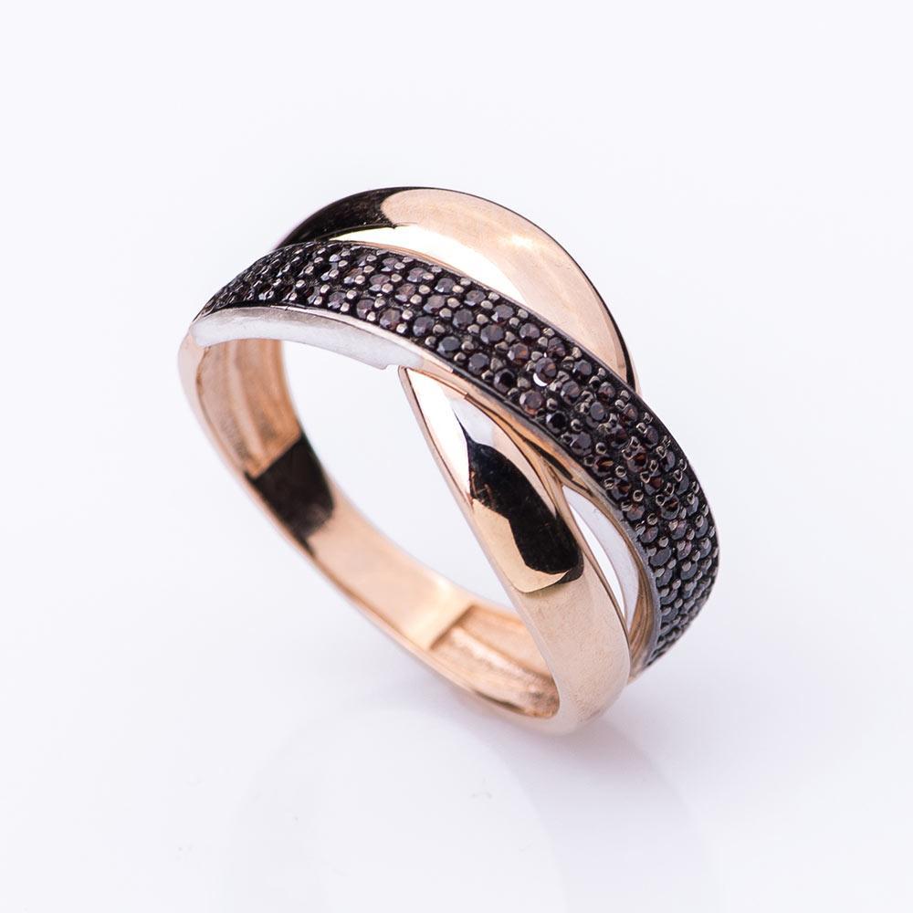 Золотое Кольцо GS  с коричневыми фианитами