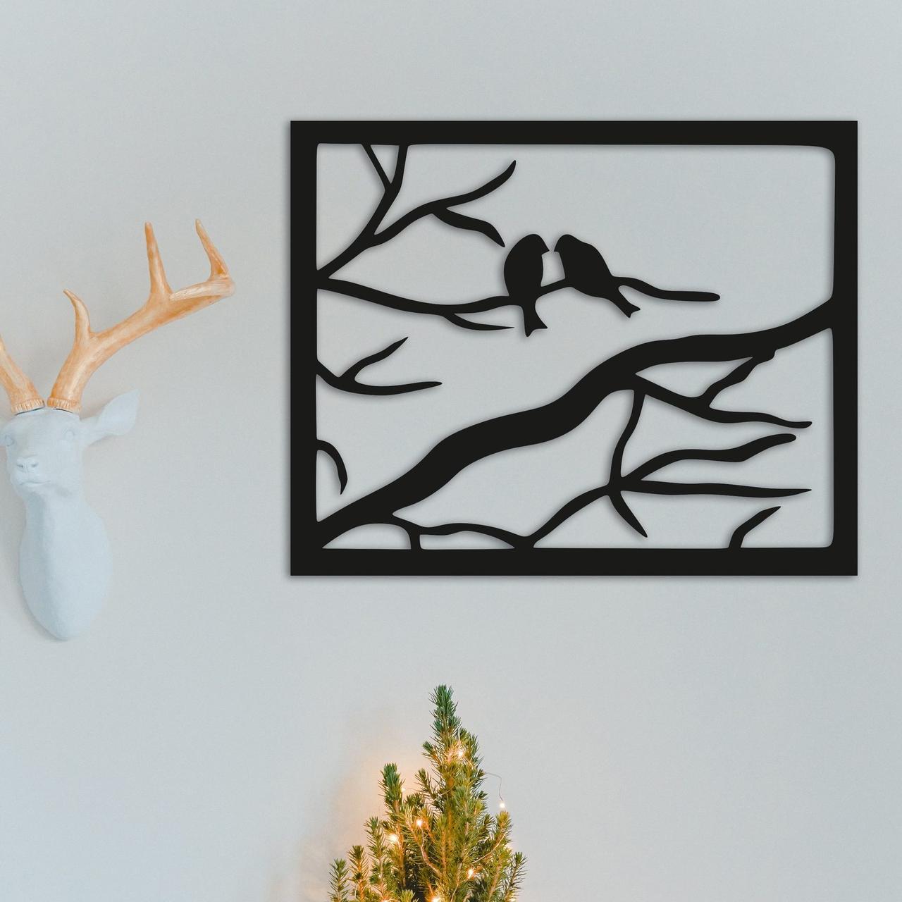 Картина из дерева Decart Птицы в рамке 50х40 см