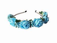 Обруч Голубая роза большой (Украинские венки, обручи, заколки)