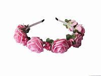 Обруч Розовая роза большой (Украинские венки, обручи, заколки)