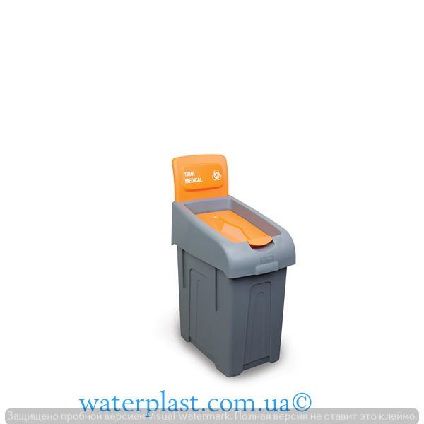 Корзина для сортировки медицинских отходов Fantom с крышкой 50 л