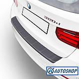 Пластиковая защитная накладка на задний бампер для BMW 3-series F31 Touring 2011-2019, фото 2