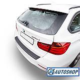 Пластиковая защитная накладка на задний бампер для BMW 3-series F31 Touring 2011-2019, фото 4