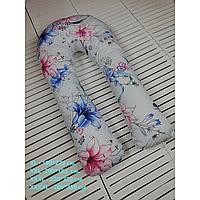 """Подушка для беременных XXL U-образная 290*185 Обнимашка """"Лилии"""" Подкова Купить"""