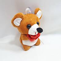 """Мягкий сувенир """" мышка с розочкой """"10*6см,цвет рыжый, фото 1"""