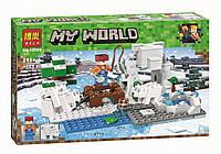 "Конструктор Bela My World 10960 ""Зимняя рыбалка"" (аналог Lego Майнкрафт, Minecraft), 215 деталей"