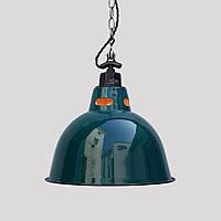 Світильник [ INDUSTRIAL vintage / Metal Bell / blue ] (series enamelled), фото 1